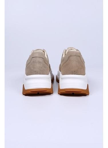 Female Project Bej Krep Hakiki Deri Sneaker Bej